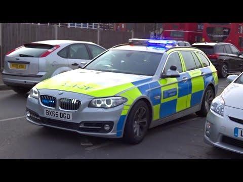 London Police car responding + on scene - Suspicious person!