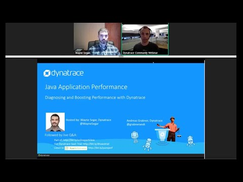 Online Perf Clinic - Diagnosing and Boosting Java Application Performance with Dynatrace