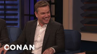 Matt Damon & Tom Cruise Have Different Approaches To Death-Defying Stunts - CONAN on TBS