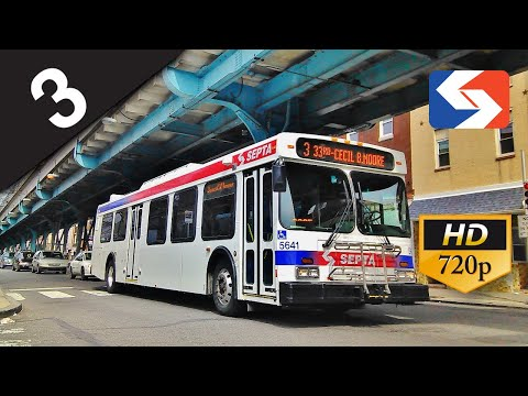 SEPTA Ride: 2003 New Flyer D40LF #5641 on route to Frankford Transportation Center