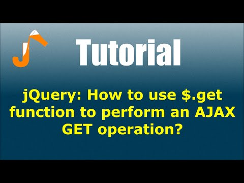 jQuery: How to use $.get function to perform an AJAX GET operation?