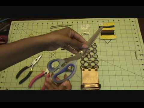 DIY: Jewelry from an Old Belt