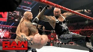 Cesaro & Sheamus vs. Gallows & Anderson - Raw Tag Team Championship Match: Raw, Jan. 16, 2017