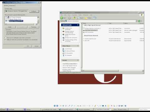 Ethernet Tutorial - Configure Static IP - Windows XP