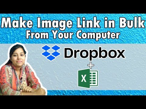 Dropbox Bulk Image link in excel | Make dropbox  image url bulk for ecommerce in Hindi