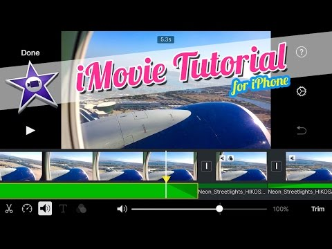 iMovie Tutorial for iPhone - Fade In Audio, Fade Out Audio, and Mute Audio