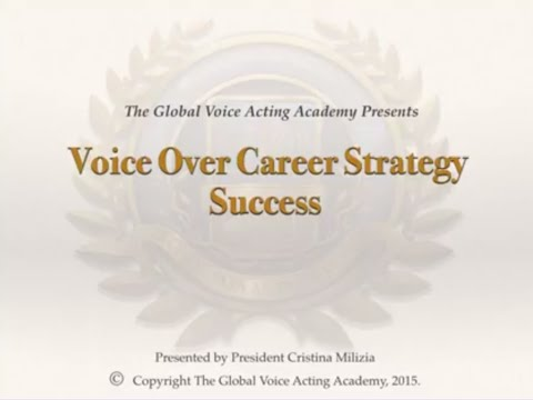 Career Strategy for Voice Actors Lecture with Cristina Milizia