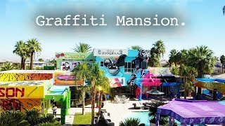 CRAZY GUY SPRAY PAINTS ENTIRE MULTI MILLION DOLLAR MANSION