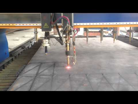 gantry cnc oxy-fuel cutting machine for thick steel plate