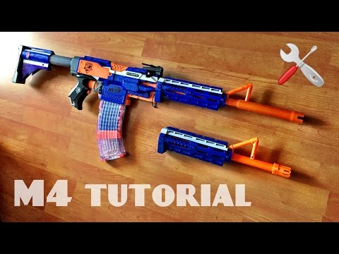 [TUTORIAL] How to make a NERF M4 Rifle | PART 1 - barrel attachment