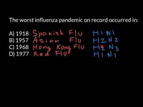 Three Influenza Pandemics of the 20th Century