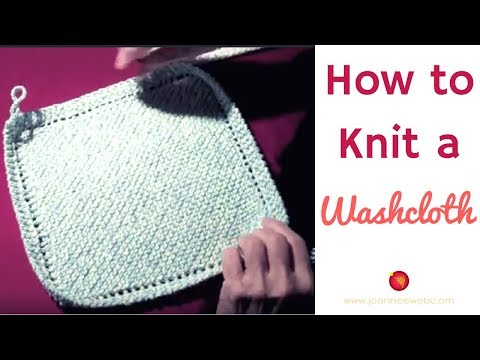 Knitted Wash Cloth Quick and Easy (Holiday Freebie!)