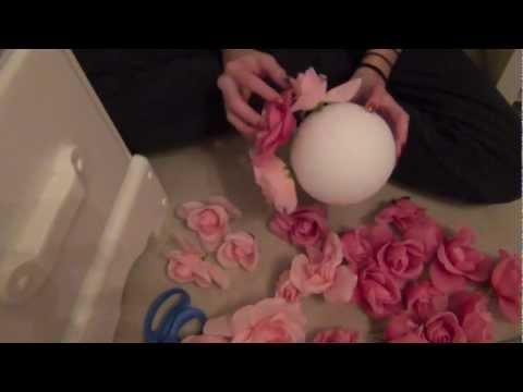 DIY: Flower Ball room decor