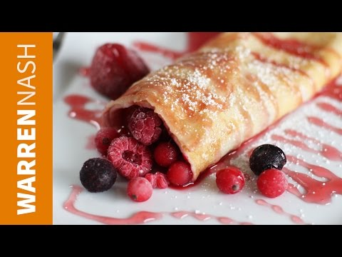 How to make Sweet Pancakes - With Summer Fruit - Recipes by Warren Nash