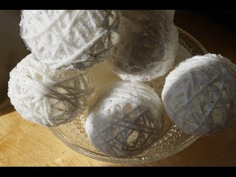 How to Make Snowballs From Yarn