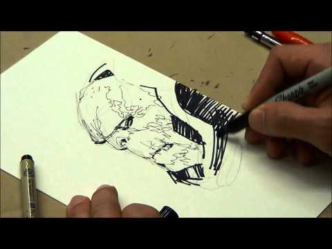 Jim Lee drawing Darkseid
