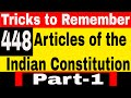 Tricks to Remember Complete Articles of indian constitution