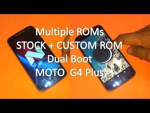 Dual Boot Moto G4 Plus Stock + Custom ROM | Install Multiple ROMs