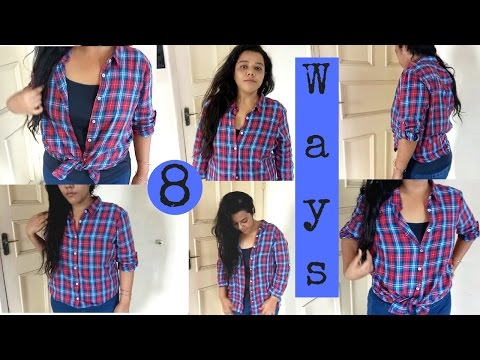 Styling a shirt in 8 different ways/  how to style a shirt? Plus size fashionpl