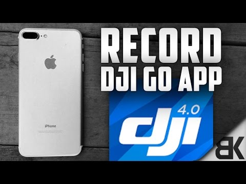 How To Record Your iPhone Screen While Using The DJI Go App