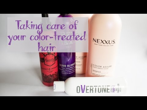 How to take care of your colored hair {Purple Hair}