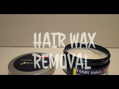 How to remove styling hair wax