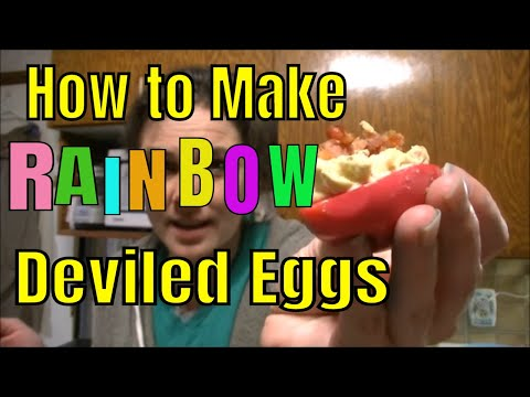 DIY Rainbow Deviled Eggs!  and Bacon
