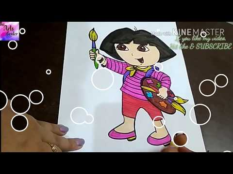 How to draw CUTE DORA!!! Fun drawing for kids || by The Arts Center