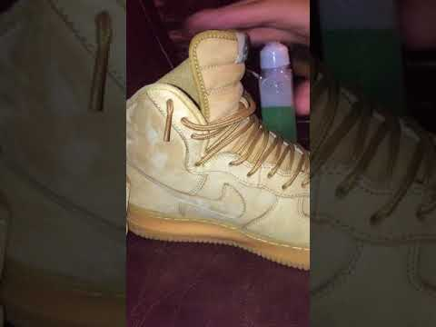 How to clean wheat air force ones (suede)