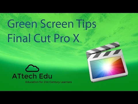 How to use Green Screen with Final Cut Pro X - Chroma Key - FCP - Special effects in Final Cut Pro X