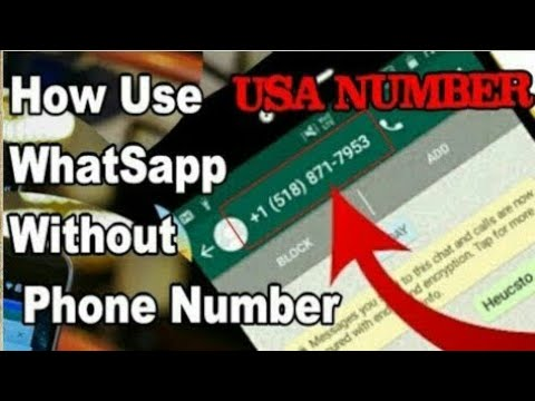 How To Use Whatsapp Without Phone Number No Sim Card || USA Fake Number Latest Trick 4th November