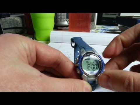 How to turn chime/alarm on/off Timex 1440 sports WR50M watch - Blue