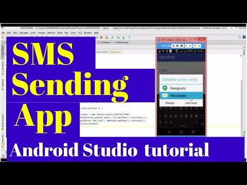 sending SMS  in android studio | android app development tutorial for beginners