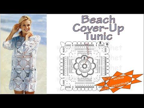 Crochet Beach Cover-Up Tunic Wika crochet LIVE