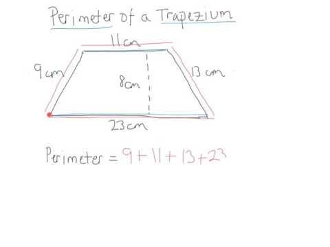 perimeter of a trapezium