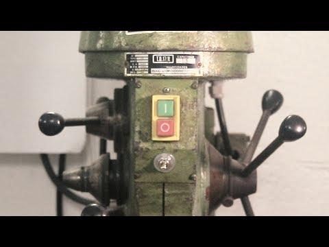 Restoring a Vintage Drillpress - making an AWESOME Elevation crank