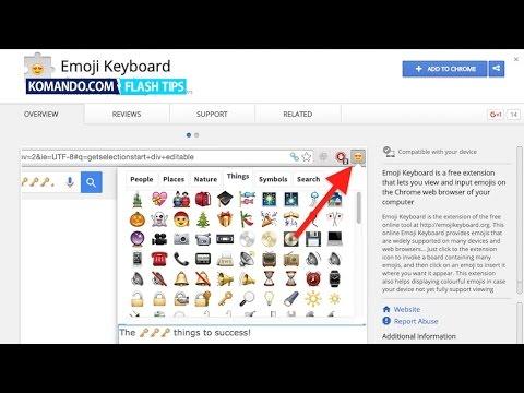Get an emoji keyboard in Google Chrome