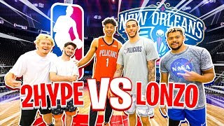 2HYPE vs. Lonzo Ball - Who's the BEST SH00TER? *Half-Court Buzzer*