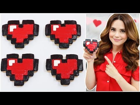 PIXEL HEART CINNAMON COOKIES - NERDY NUMMIES