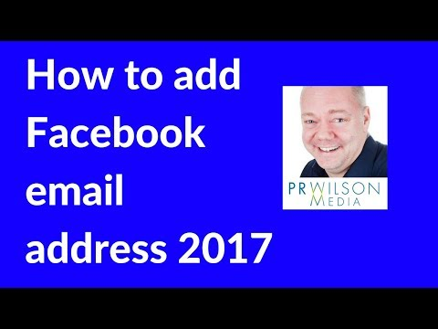 Add or change Facebook email address 2017