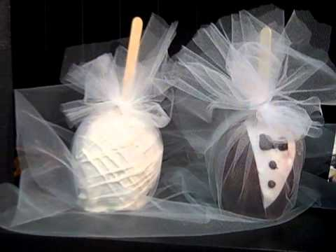 Anthony's Chocolate Dipped Fruit Wedding Favors