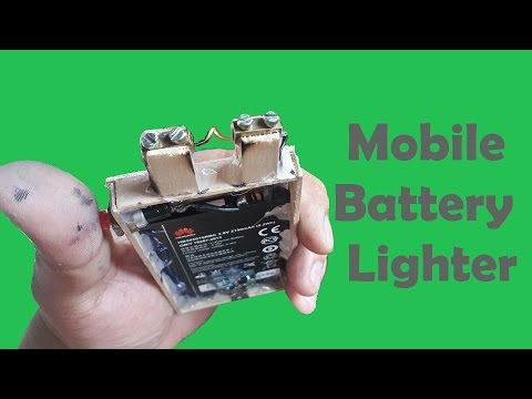 Lighter Made out of a Mobile Battery