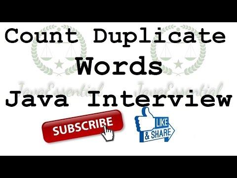 Find Duplicate words in String java program