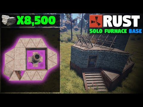 CHEAPEST SOLO Large FURNACE Base Design | (How-To) Rust Base Building