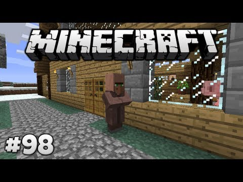 Curing A Zombie Villager! || Survival In Minecraft (1.4.2) #98