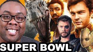 SOLO, JURASSIC WORLD 2, AVENGERS INFINITY WAR Super Bowl Trailer Review - Black Nerd RIOT