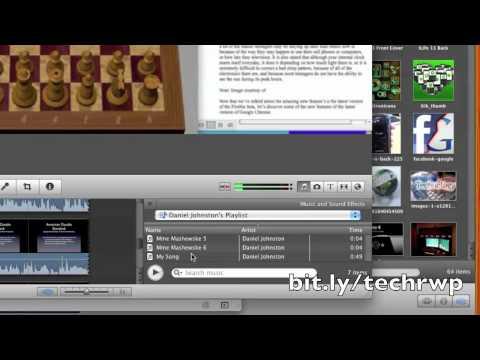 How to Import Garageband Tracks to iMovie