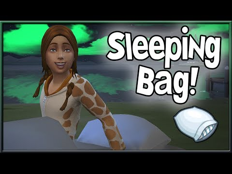 Functional Sleeping Bag! 💤 | The Sims 4 (CC by Pickypikachu)
