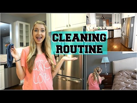 WEEKLY CLEANING ROUTINE!
