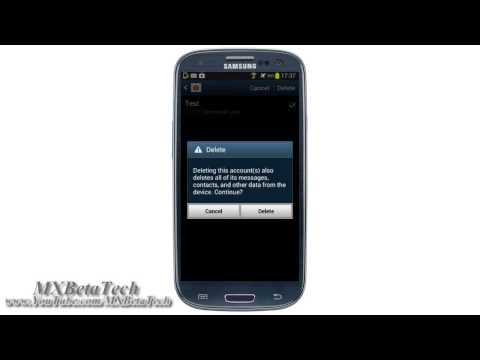 Samsung Galaxy S3 : How To Delete Social Account